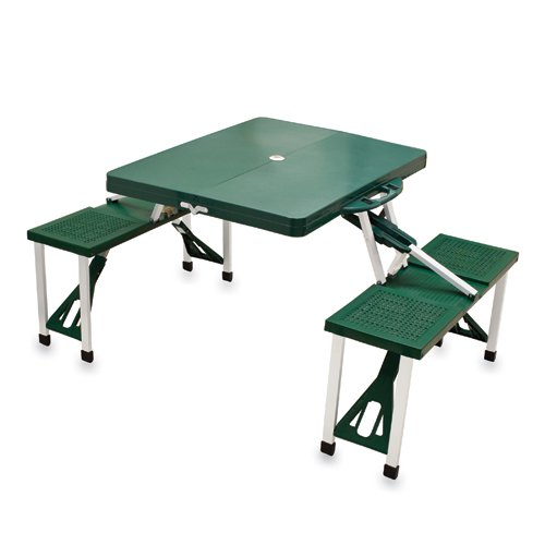 Picnic Time Green Folding Picnic Table