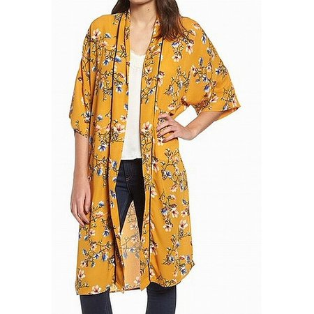 Nordstrom Womens Floral Print Cardigan Sweater