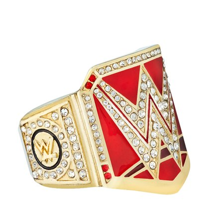 Official Authentic RAW Women's Championship Finger Ring Gold/Red (Cheap Championship Rings)