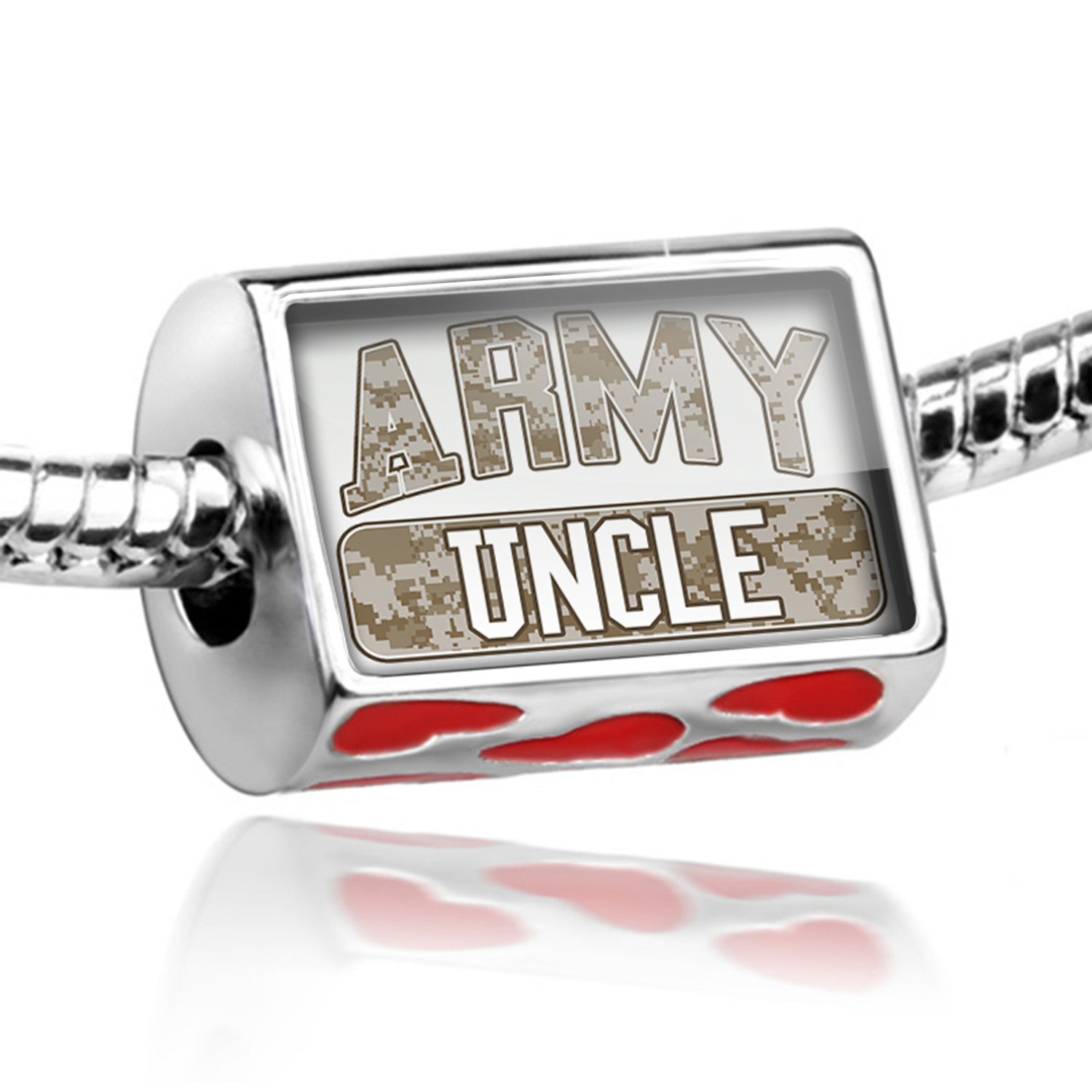 Bead ARMY Uncle, Camo Charm Fits All European Bracelets
