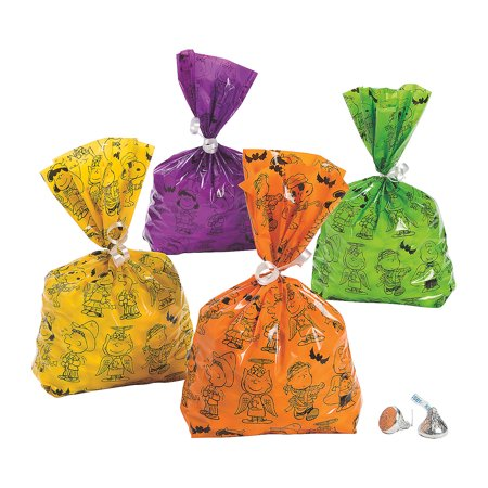 Fun Express - Peanuts Halloween Cello Bags for Halloween - Party Supplies - Bags - Cellophane Bags - Halloween - 12 Pieces](Fun Halloween Party Names)