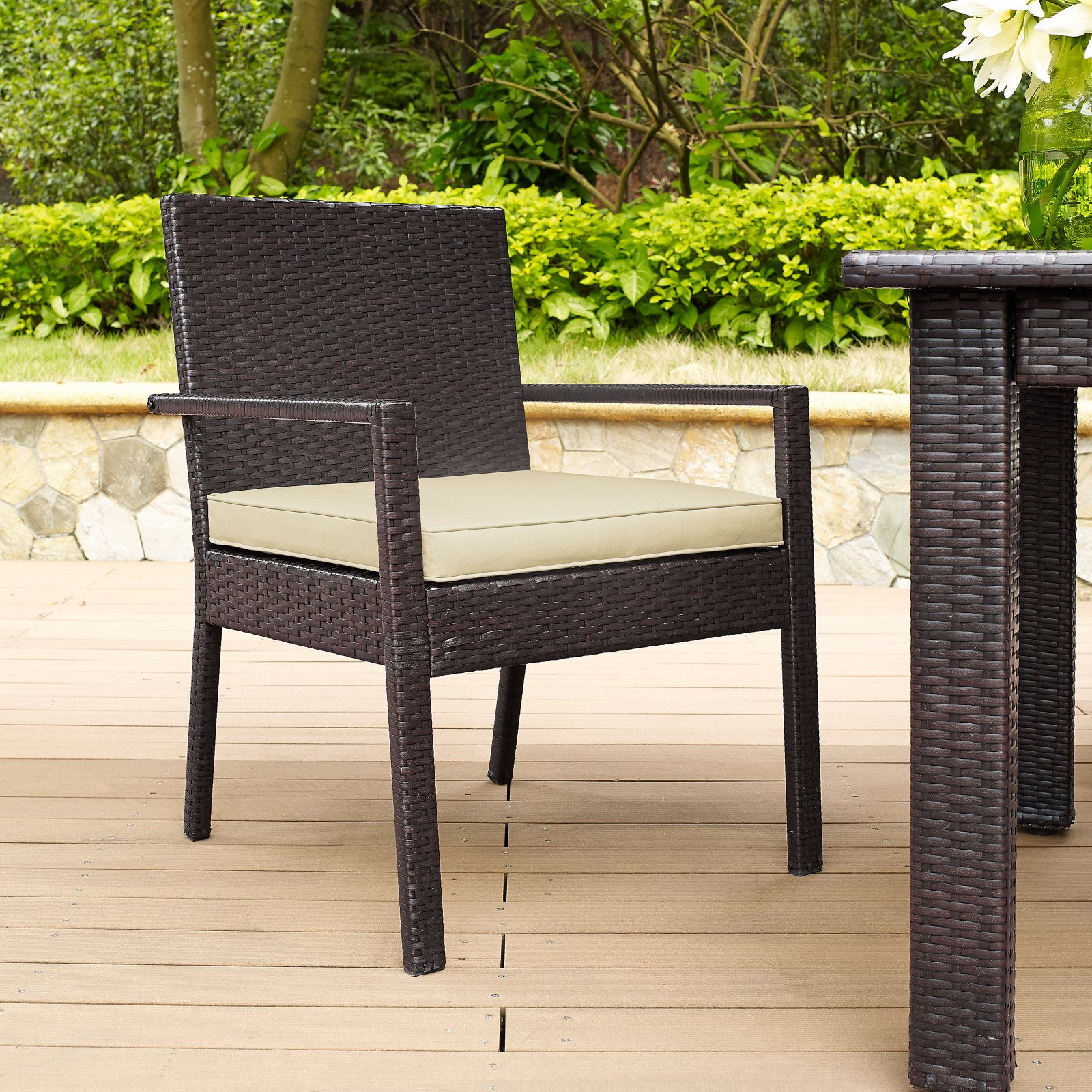 Crosley Palm Harbor Outdoor Wicker Dining Chair, Set of 2