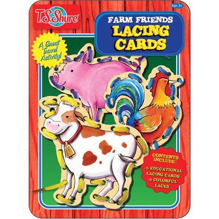 T.S. Shure Farm Friends Lacing Cards Activity Tin