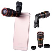 Cell phone Camera Lens 12X Zoom Telephoto Cellphone Lens with Clip For iPhone Samsung LG HTC iPad & Most Smartphones