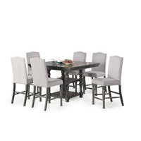 Caswell Distressed Harbor Grey 7-Piece Dining Set
