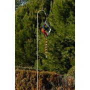 Alpine Corporation Outdoor Metal Swirls Wind Spinner with Shepherd's Hook