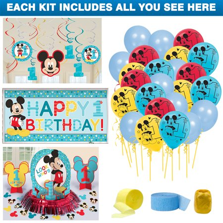 Mickey Mouse 1st Birthday Decoration Kit](Mickey Mouse Halloween Party Birthday Invitations First)