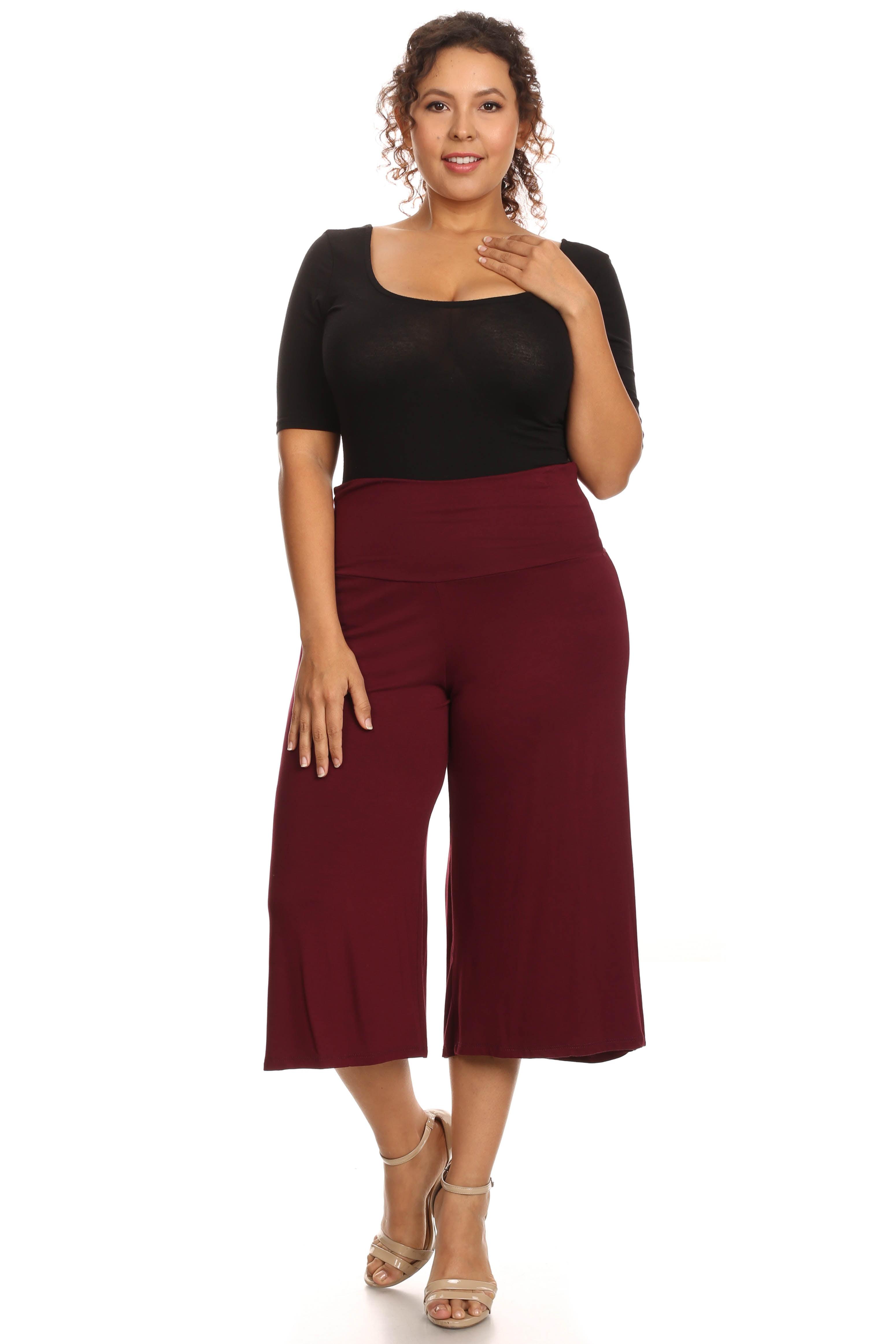 Plus Size Women's Gaucho Pants