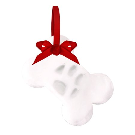 Tiny Ideas Pawprints DIY Holiday Bone Ornament, White - Holiday Decorating Ideas On A Budget