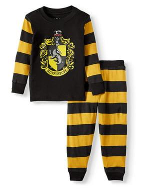 Harry Potter Toddler Girls Long Sleeve Cotton Tight Fit Pajamas, 2Pc Set