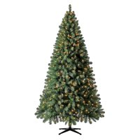 Holiday Time Pre-Lit Kennedy Fir Quick Set Artificial Christmas Tree, 7.5', Mini Clear Lights