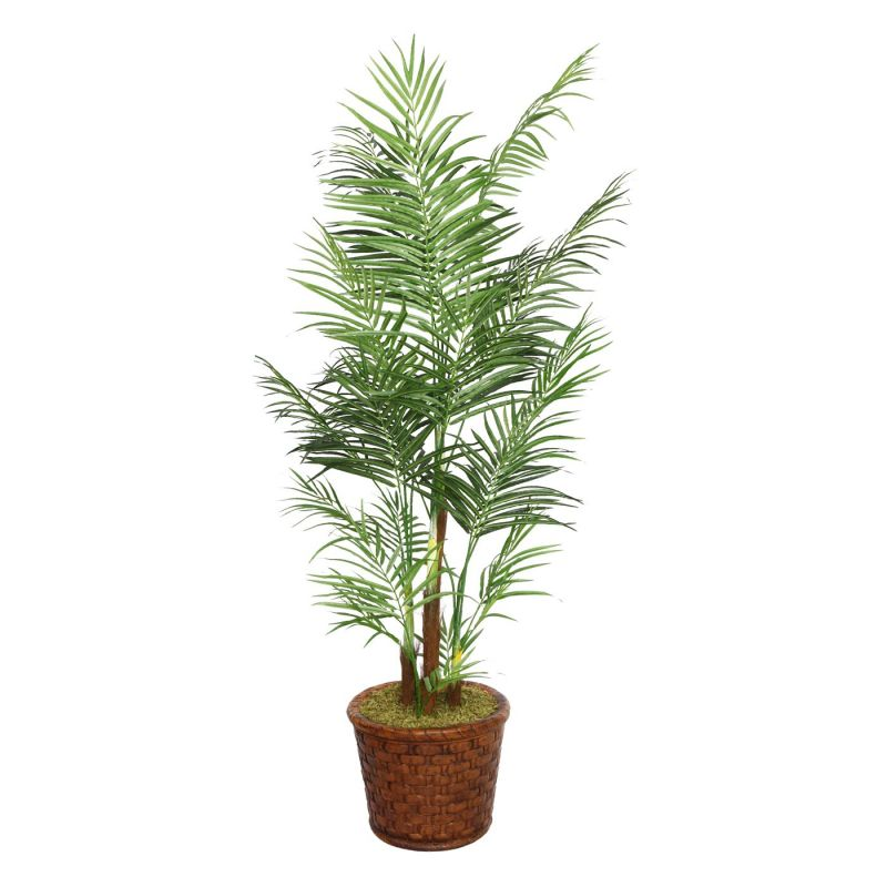 Laura Ashley by Vintage Home 81-in Tall Areca Palm Tree in 17-in Fiberstone Planter 36L 36W 80.8H