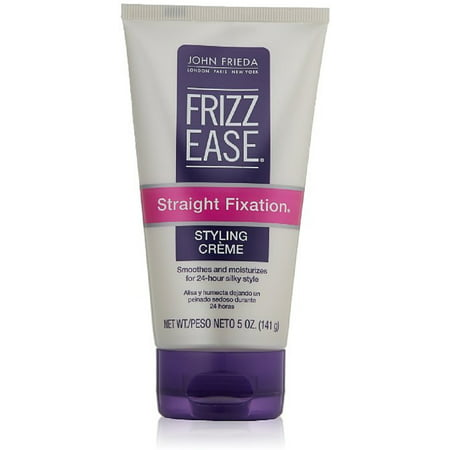 John Frieda Frizz-Ease Straight Fixation Styling Creme 5 oz (Pack of 2) Easy Straight Straight Styling Solutions