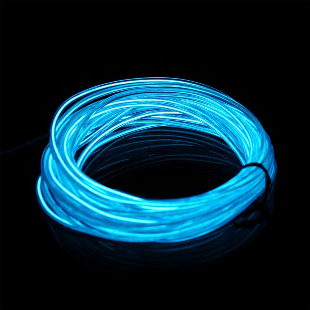 Pink Flexible EL Wire Neon Light 3 Meters for Dance Party Car Decor with Controller Waterproof Car Vehicle Shoes LED Light