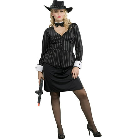 Women's Gangster Plus Size Costume - Mob Gangster Costumes