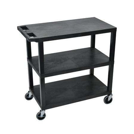 Offex OF-EA34-B 3 Flat Shelves Black Presentation Station