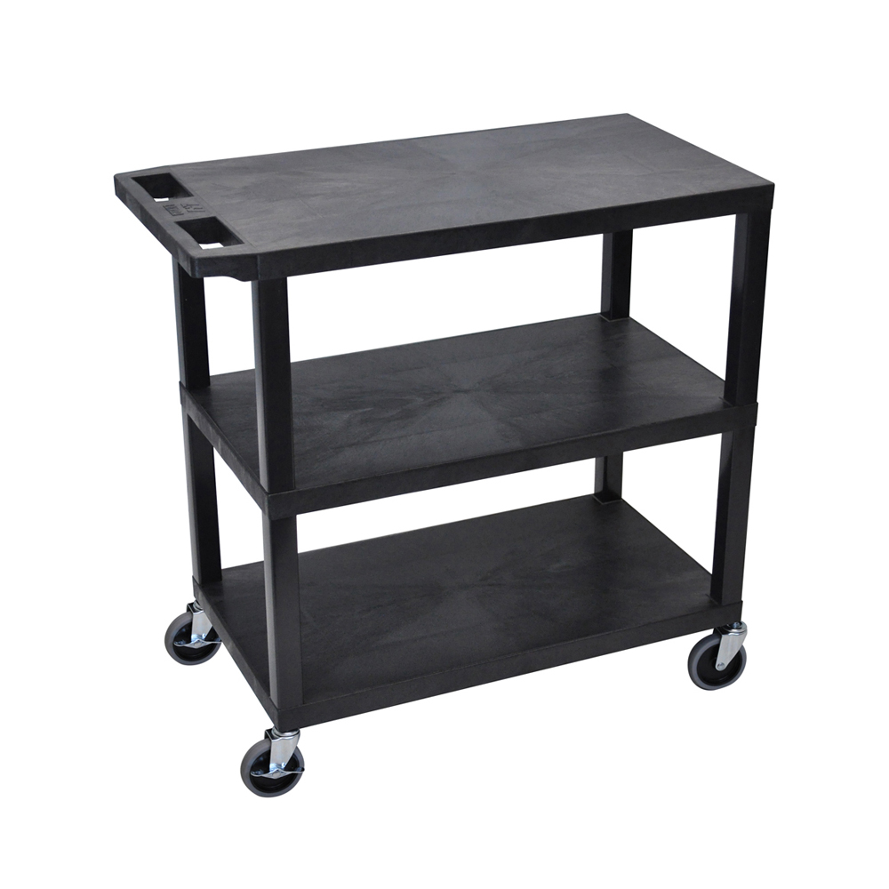 Offex OF-EA34-B 3 Flat Shelves Black Presentation Station