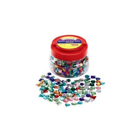 - Colorations Sparkly Self-Stick Gem Jar - 900 Pieces (Item # STCKYGEM)