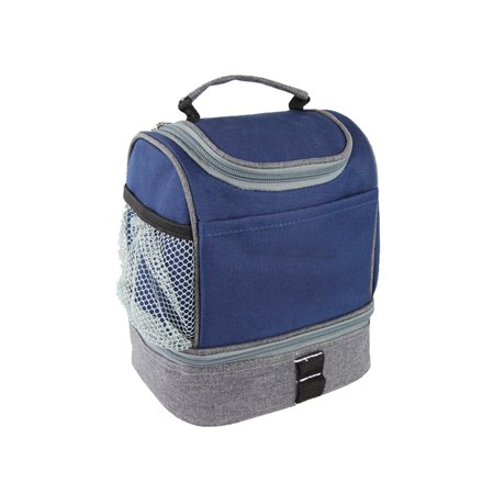 THE COMPACT DUAL LUNCH COOLER BLUE - Diy Lunch