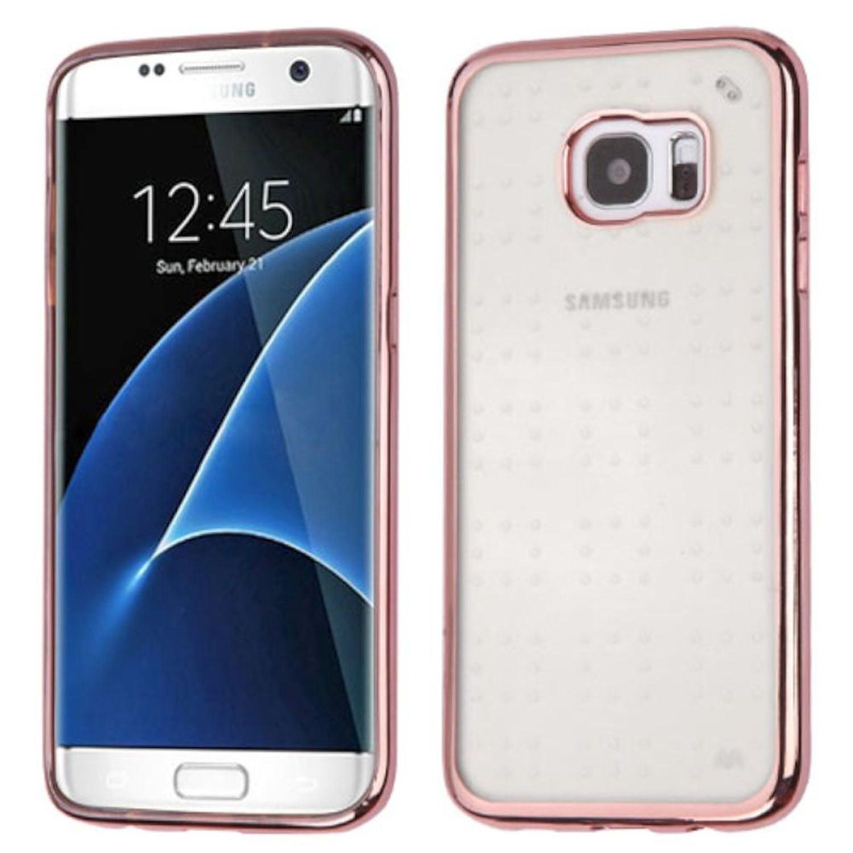 Insten TPU Case For Samsung Galaxy S7 Edge - Rose Gold