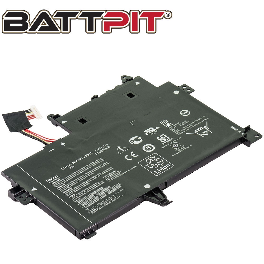BattPit: Laptop Battery Replacement for Asus Transformer Book Flip TP500LA, B31BN9H, B31N1345, B31NI345 (11.4V 4110mAh 48Wh)