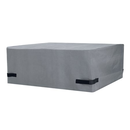 """Mainstays Sandell 50"""" Square Outdoor Fire Pit Table Cover in Gray, Large"""