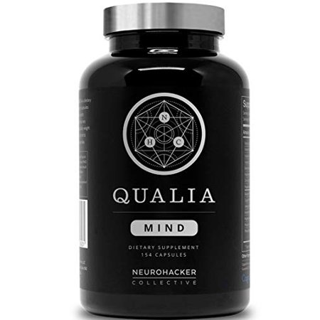 Qualia Mind Nootropics by Neurohacker Collective | Top Brain Supplement for Memory, Focus, Mental Energy, and Concentration with Ginko biloba, Alpha GPC, Cacopa monnieri, (154