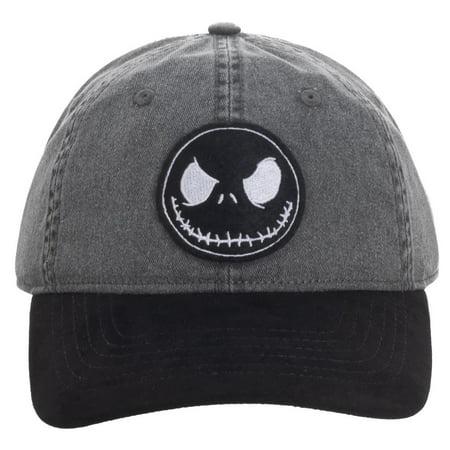 Nightmare Before Christmas Top Hat (Baseball Cap - Nightmare Before Christmas - Pigment Dyed Dad Hat New)
