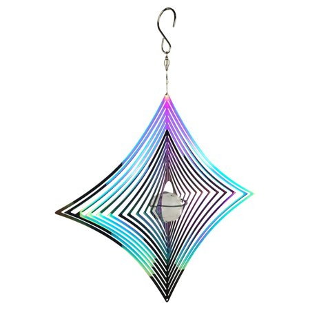 Red Carpet Studios Rainbow Cosmo Diamond Wind Spinner - Rainbow Wind Spinners