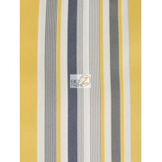 Oxford Stripe Outdoor Canvas Waterproof Fabric / Yellow / Sold By The Yard