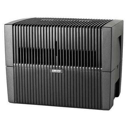 VENTA LW45G Humidifier/Air Purifier,120V,Gray Choose from humidifier supplies like filters and other humidifier parts and accessories to ensure proper usage and operation. Here are some important details for Venta Humidifier and Air Purifier. Type:  Portable, Voltage:  120VAC, Width:  17 .FeaturesNEMA Plug Configuration: 1-15pType: PortableCord Length: 6 ft.Height: 13 Number of Speeds: 3Width: 17 Watts: 8Voltage: 120VACClearance Required Inside: 12 Depth: 11-1/2 Water Reservoir: 3 gal.Color: Charcoal GrayMax. Square Foot Capacity: 800Description/Special Features: Humidifier and Purifier, No Filter is RequiredItem: Humidifier and Air PurifierFan CFM: 158.9Warranty: 2 yr.