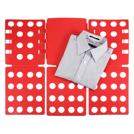 Ollieroo 3 Steps Plastic T-shirt Folder Clothes Fold Board Thickness Adjustable Laundry