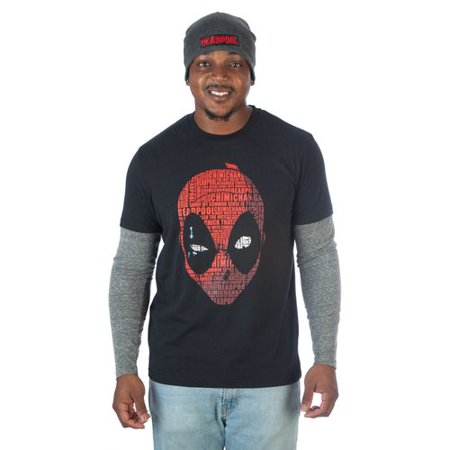 Marvel Men's Twofer XL Tee and Matching Beanie Combo