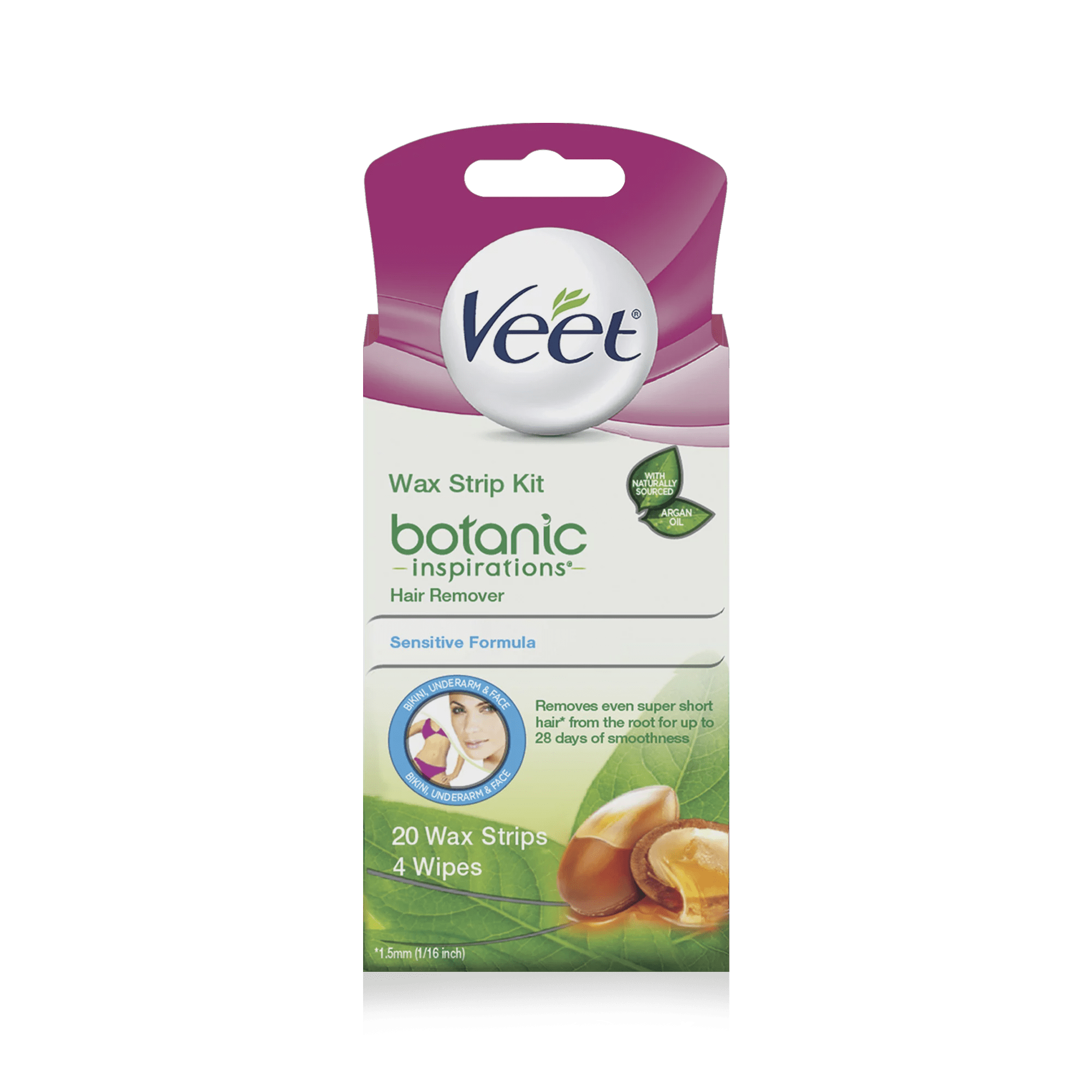 Veet Body Bikini And Face Hair Remover Wax Kit 20 Count
