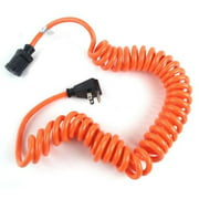 Prime AD010610 Coiled Power Tool Cord, Orange - 10 ft.