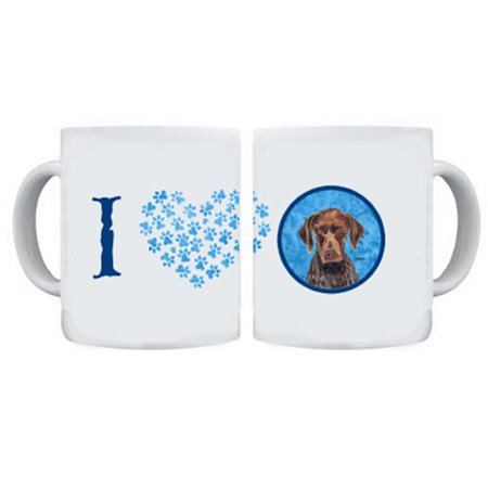 German Shorthaired Pointer Dishwasher Safe Microwavable Ceramic Coffee Mug 15 ounce