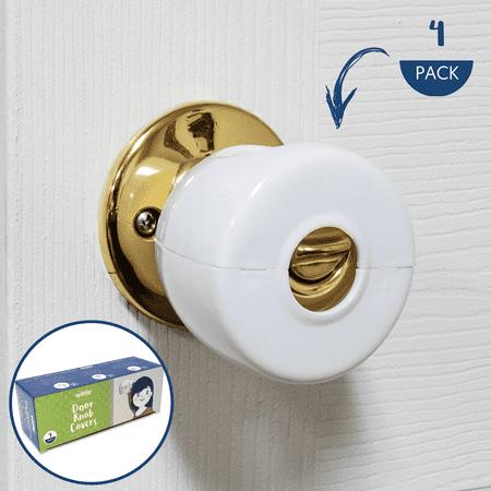 Wittle Door Knob Safety Cover - 4 Pack | Baby Proof Door Lock | Child Proof