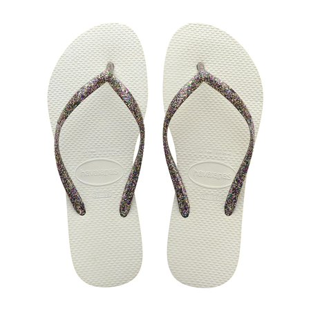 Slim Logo Metallic Sandals
