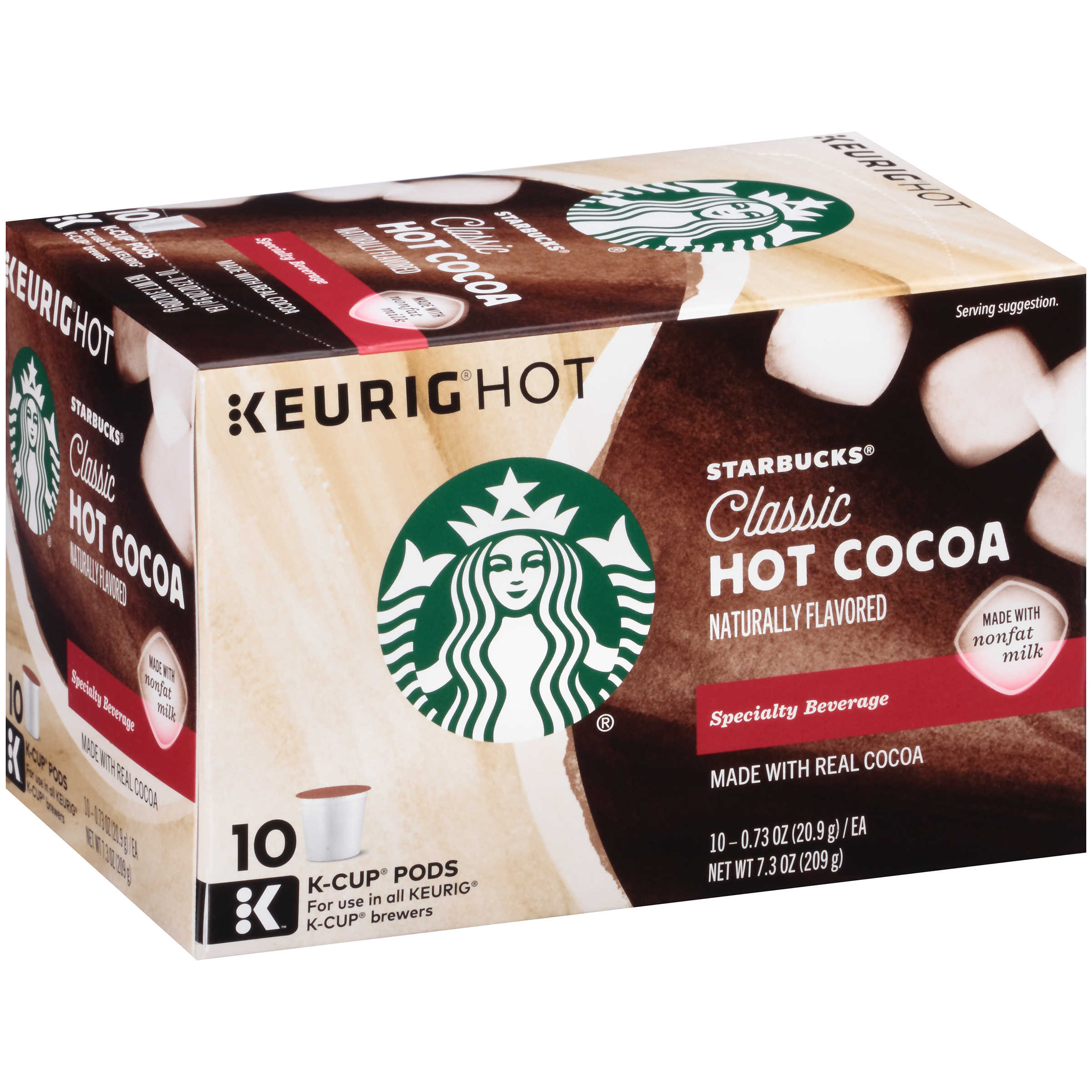 Starbucks® Classic Hot Cocoa K-Cup® Pods 10 ct Box