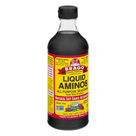 Bragg Liquid Aminos All Purpose Seasoning Natural Soy Sauce Alternative, 16.0 FL OZ