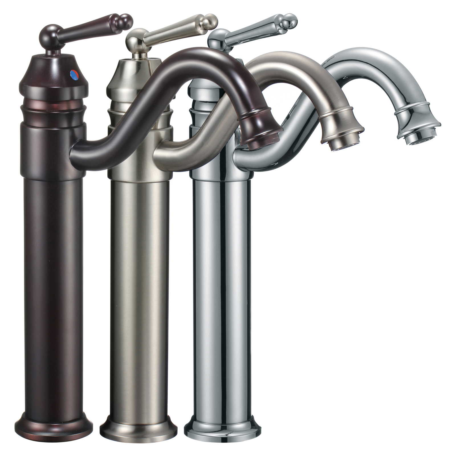 FREUER Vittorio Collection: Vessel Bathroom Sink Faucet - Multiple Finishes Available