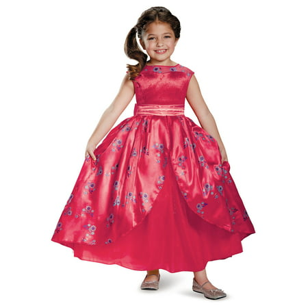 Disney's Elena of Avalor Ball Gown Deluxe Costume for Kids (Queen Gown Costume)