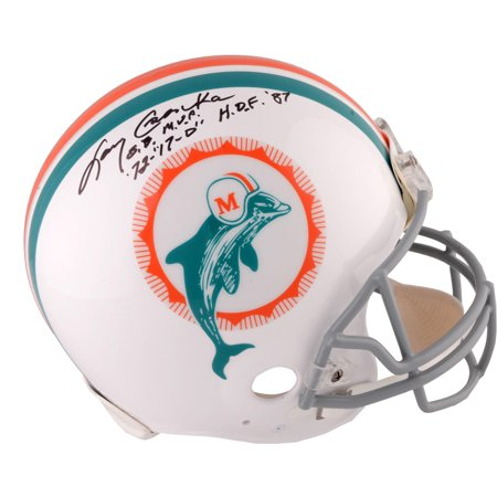 Larry Csonka Miami Dolphins Autographed Riddell Throwback Pro Line Helmet with Multiple Inscriptions - Fanatics Authentic Certified
