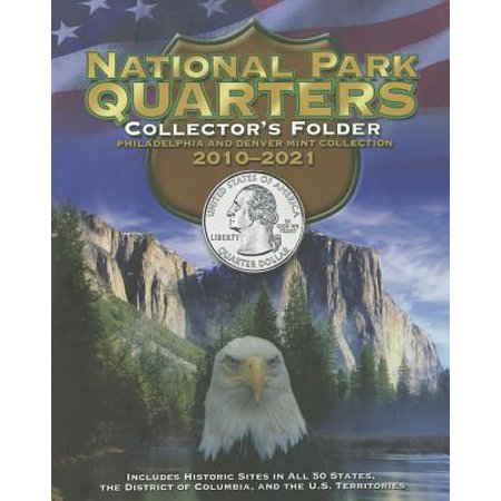 National Park Quarters Collector's Folder: Philadelphia and Denver Mint Collection 2010-2021