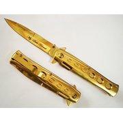 "9"" Scarface Tony Montana My Little Friend GOLD Milano Handle & Blade Godfather POCKET KNIFE"
