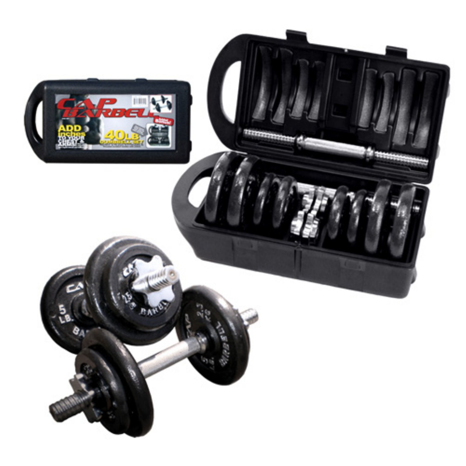 CAP Barbell RSWB-40TP 40 lb. Dumbbell Set by Cap Barbell