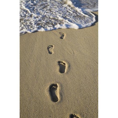 Posterazzi DPI1854154 Footprints in The Sand Poster Print, 12 x 19 - image 1 of 1