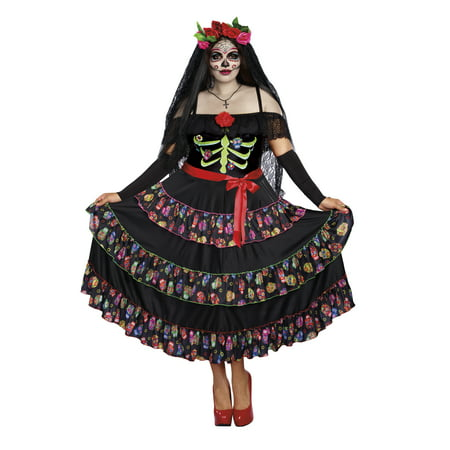 3x Costume (Dreamgirl Women's Plus-Size Lady of the Dead)