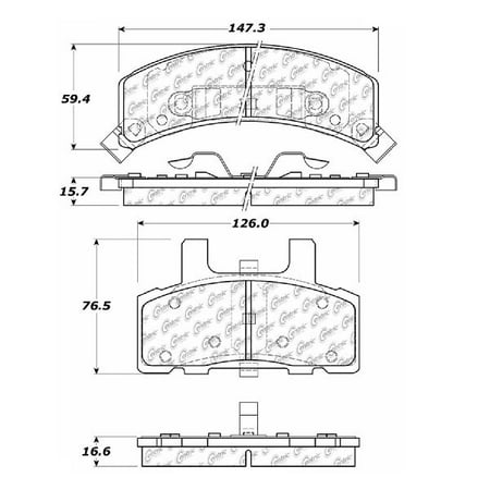 1974 Cadillac Commercial Chassis (Go-Parts » 1990-1992 Cadillac Commercial Chassis Front Disc Brake Pad Set for Cadillac Commercial Chassis )