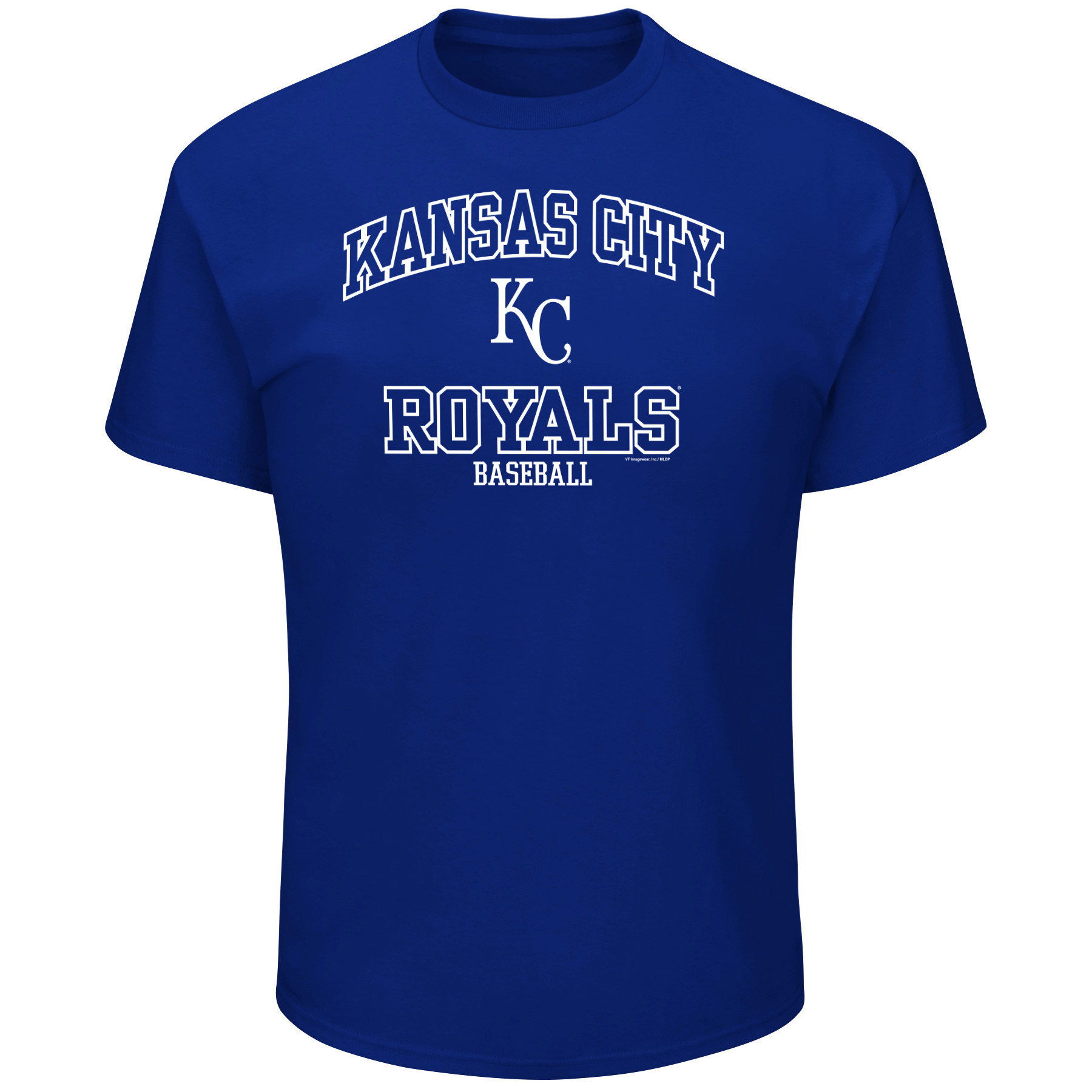 Men's Majestic Royal Kansas City Royals High Praise Team T-Shirt
